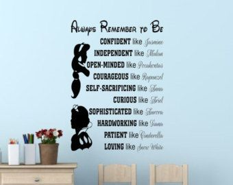 In This House We Do Disney Wall Decal Disney Wall Quotes Wall Vinyl Decal Wall Decor Wall Art Disney Princess Wall Decals Disney Princess Wall Art Disney Wall
