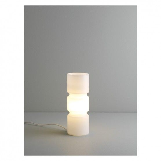 Fitz white glass table lamp buy now at habitat uk