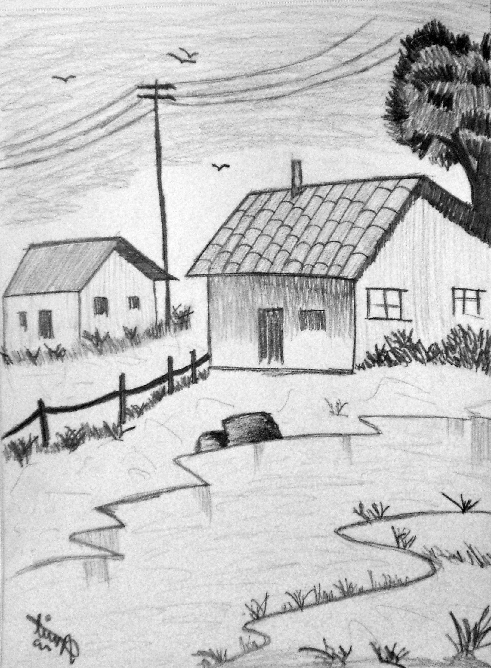 Landscape Pencil Drawing Easy Hd Pencil Drawing Scenery Landscapes Drawing Scenery Easy Nature Drawings Landscape Pencil Drawings