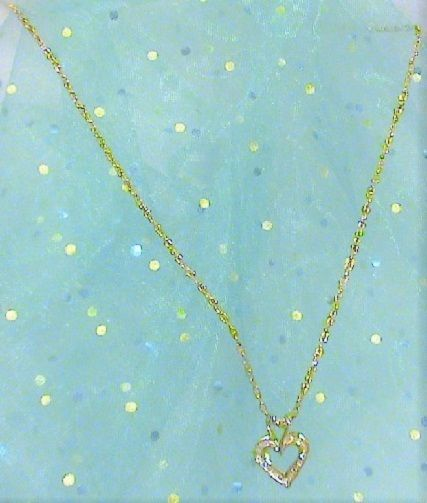10kt Gold Heart Pendant With 1 10tcw Diamonds On Gold Filled Chain Heart Pendant Gold Gold Filled Chain Heart Pendant