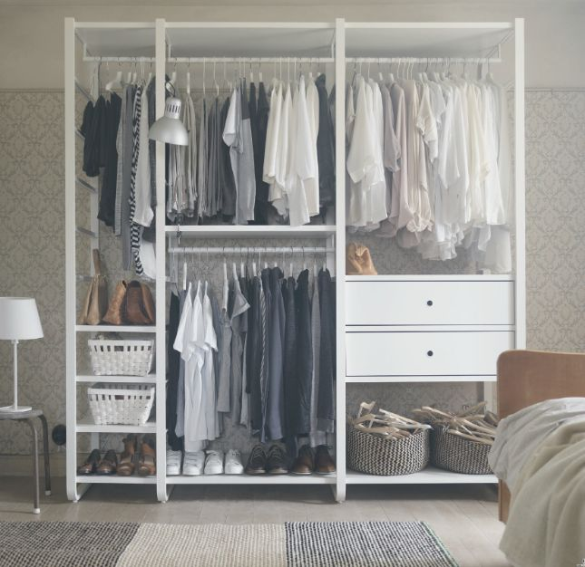 The Best Small Space Storage Ideas From The Ikea 2017 Catalog Bedroom Storage Standing Closet Closet Design