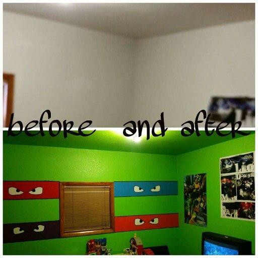 Matt S Painting Skills Ninja Turtle Bedroom Turtle Bedroom Ninja Turtles Bedroom Decor