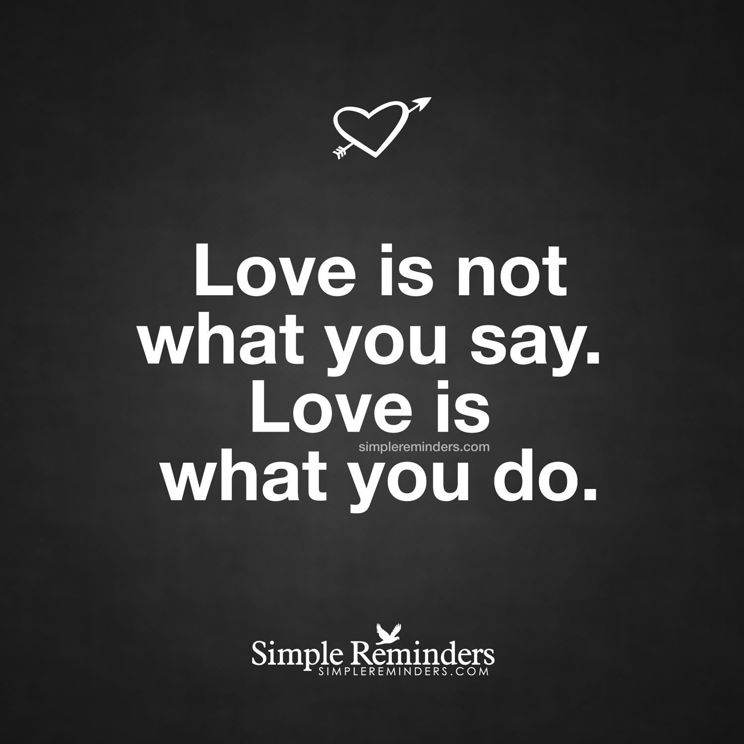 love is not what you say by unknown author various