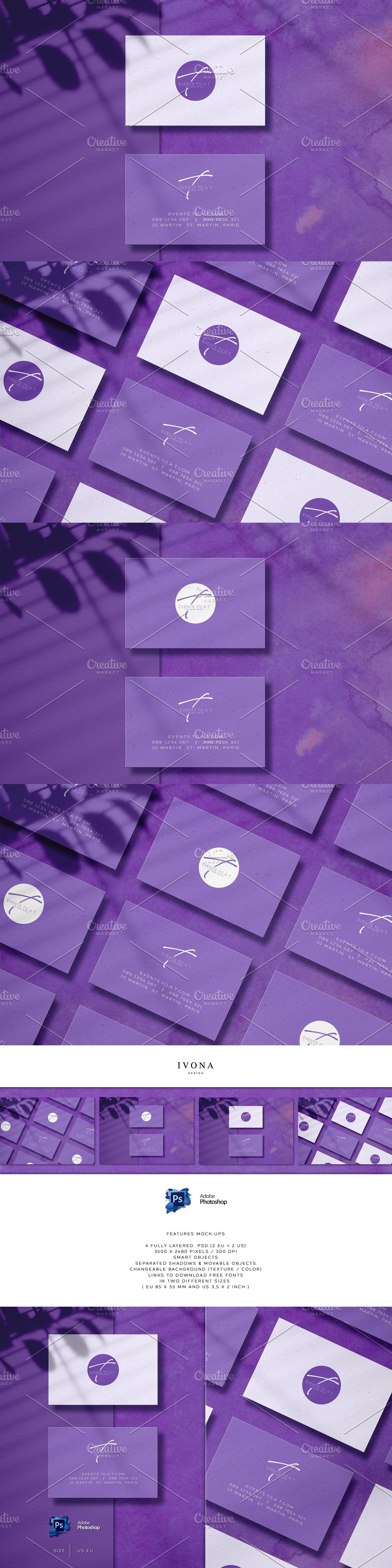 Purple Business Card Stylish Business Cards Corporate Business Card Business Cards