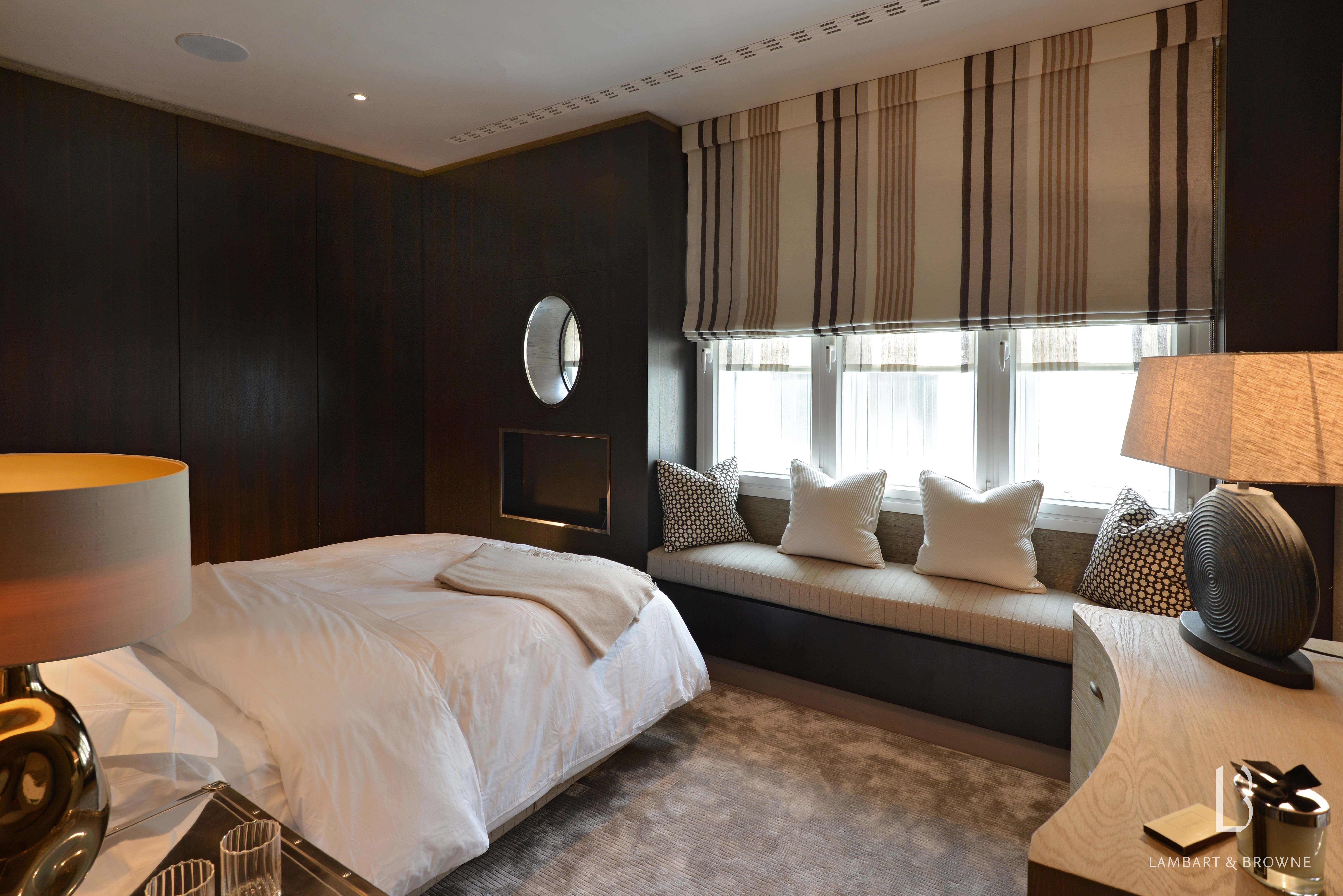 Bed near window design  lambart and browne interior design  photograph of our project in