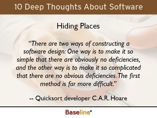 Quote About Software Design CAR Hoare  Quotes