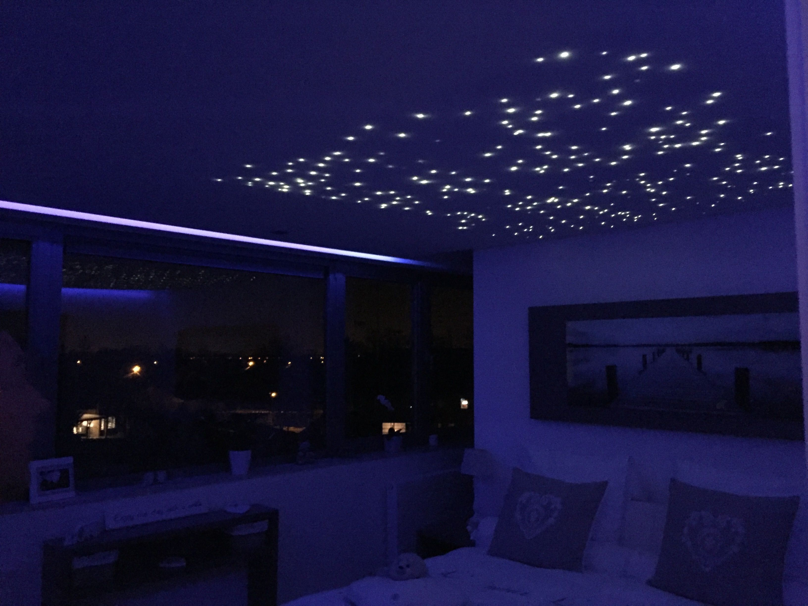 Led In Slaapkamer : Spanplafond met led sterrenhemel led glassfiber in slaapkamer