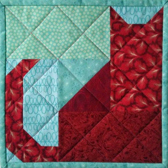 Kitty Nine-Patch Patchwork Quilt Block Pattern
