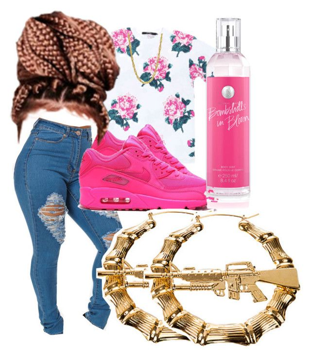 Untitled #6 by tygaisbaee on Polyvore featuring polyvore, fashion, style, Melody Ehsani, Victoria's Secret and NIKE
