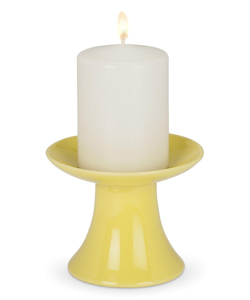 4'' Citrine Pedestal Pillar Candleholder