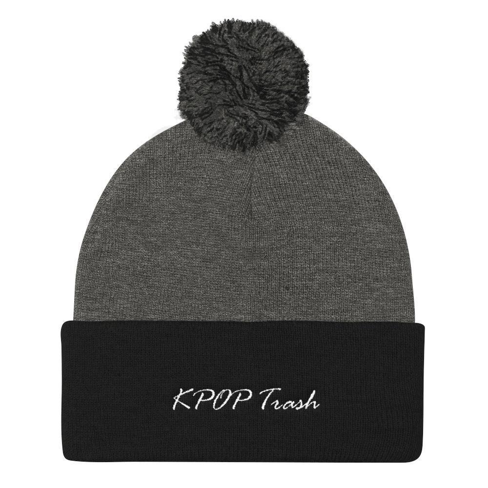 KPOP Trash Pom Pom Knit Beanie