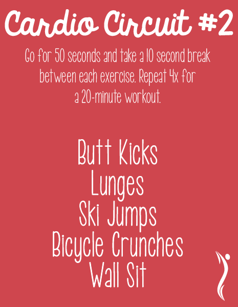 Can\'t make it to the gym today? This cardio circuit can be done in ...