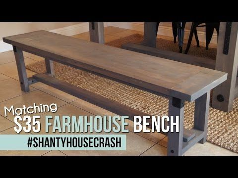 Dining · Industrial Farmhouse Bench ...