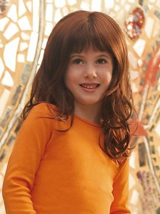easy auburn curly long kids wigs in 2020  kids wigs