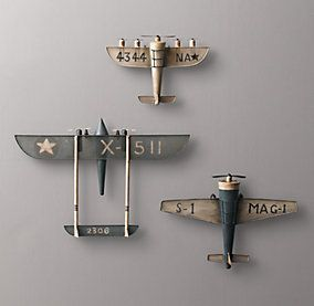 Vintage Airplane Decor Restoration Hardware Baby Airplane Decor Airplane Wall Decor