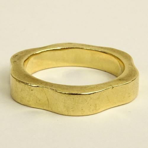 Man S Vintage 14 Karat Yellow Gold Wedding Band Vintage Men Size 10 Rings Wedding Bands