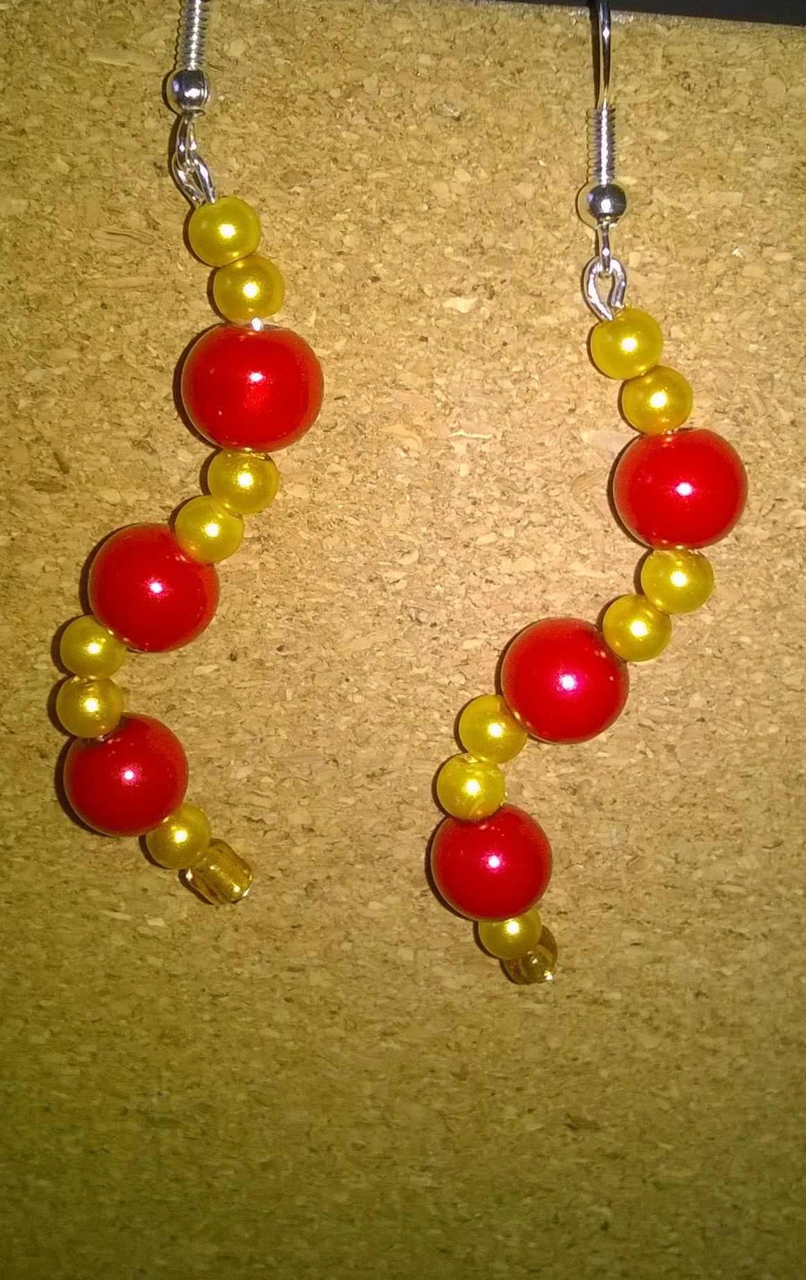 Made to order, nice bright red and gold, have a slight oriental feel