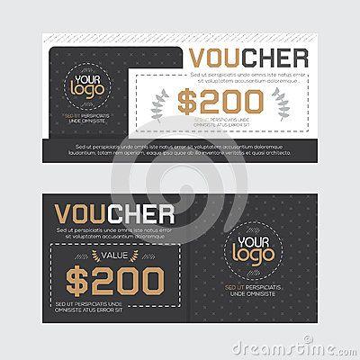Gift Voucher Template Vector illustration Gift Voucher Design - discount voucher design