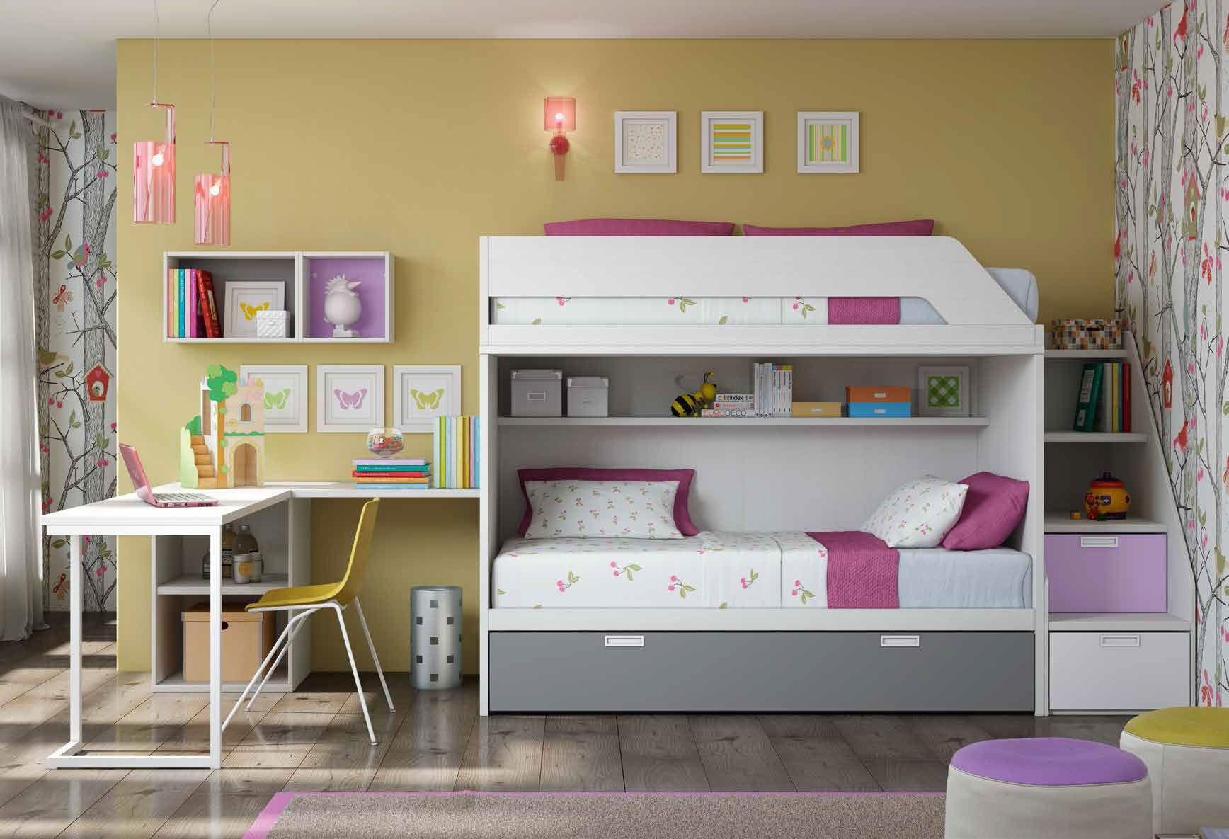 Habitación juvenil con literas Isadora en Ámbar Muebles   Alcobas ...