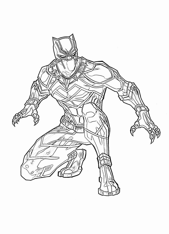 Black Panther Coloring Book New Ausmalbilder Schwarzer Panther Superheld Marvel Kostenlos Superhero Coloring Pages Avengers Coloring Pages Superhero Coloring