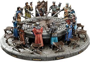 Legendary King Arthur of Camelot Avalon Chivalry Knights Round Table Sculpture