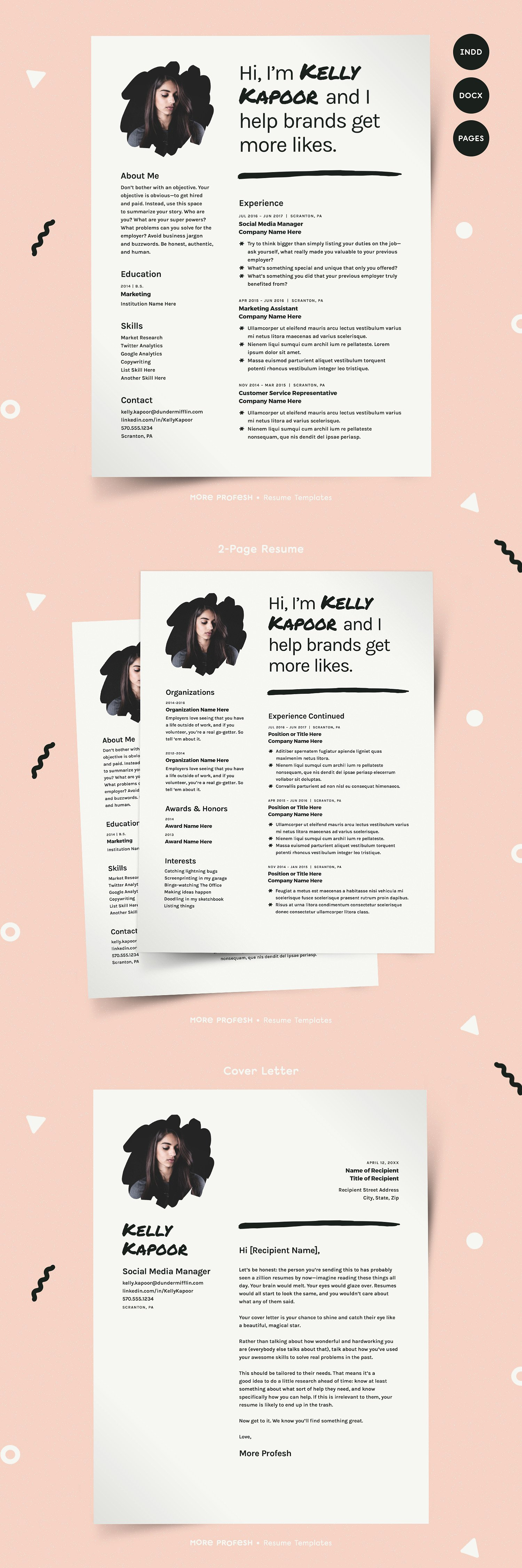 Resume with Picture CV Template (avec images)