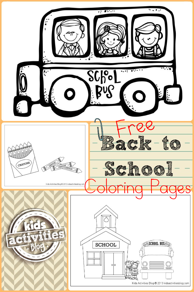 FREE BACK TO SCHOOL COLORING PAGES | School, Therapy and Kid activities
