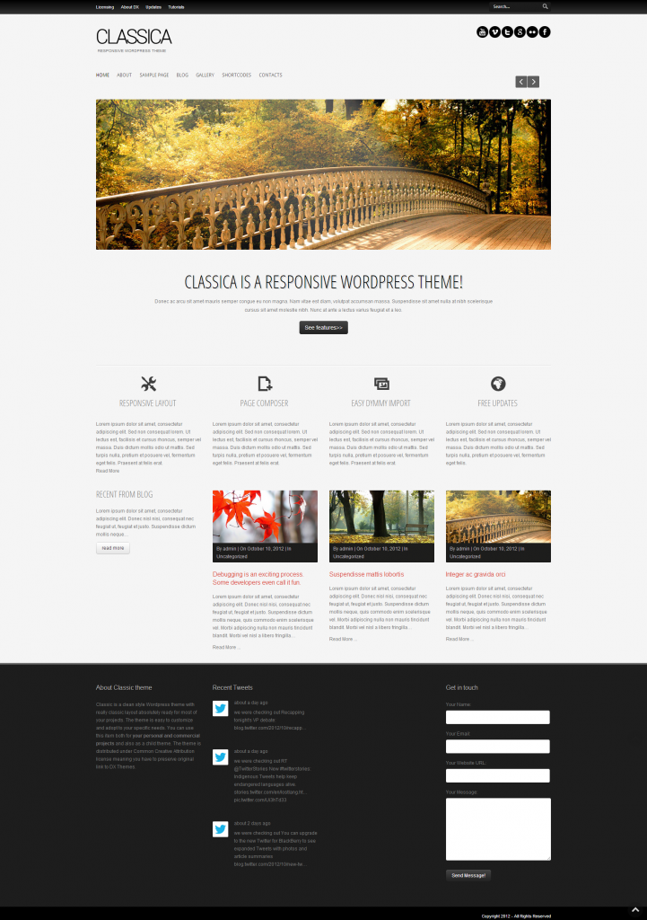 Classica: clean responsive wordpress theme free download- for Nash ...