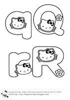 Learning Abc With Hello Kitty Coloring Page For Kids And Adults Hello Kitty Colouring Pages Abc Coloring Pages Abc Coloring