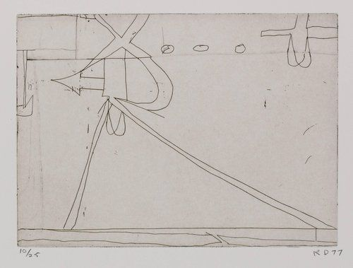 Richard Diebenkorn 6 From Nine Drypoints And Etchings 1977 D