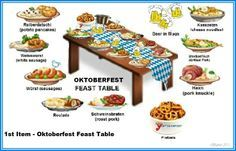 September World Holidays: Oktoberfest decoration & foods. Oddly, perhaps, Octoberfest is usually observed in late September rather than October. #octoberfestfood