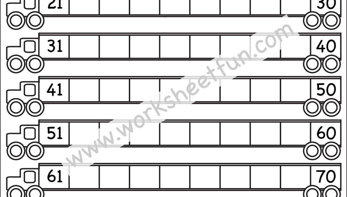 Missing Numbers 1100 One Worksheet Free printable
