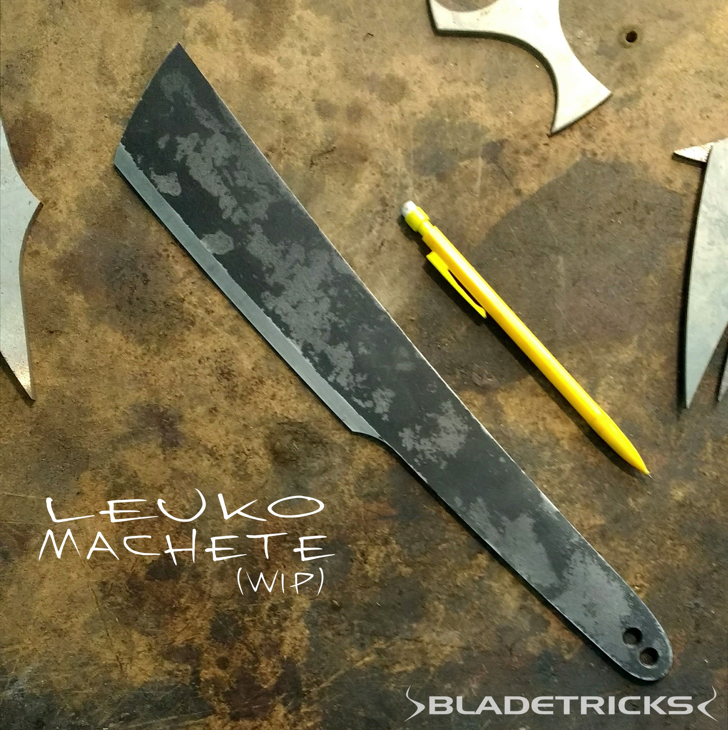 Bladetricks Leuko Machete (work in progress) | knives | Pinterest ...