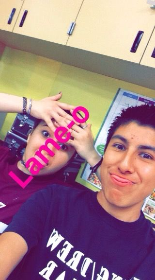 Stupid Belen and me. Skipping class.