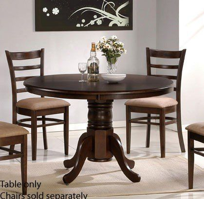 Dining Table with Solid Wood Top - Espresso - Set I want for the eat