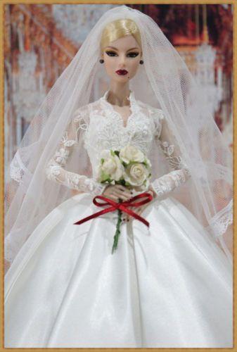 new wedding dress for fashion royalty / silkstone dollst.d.