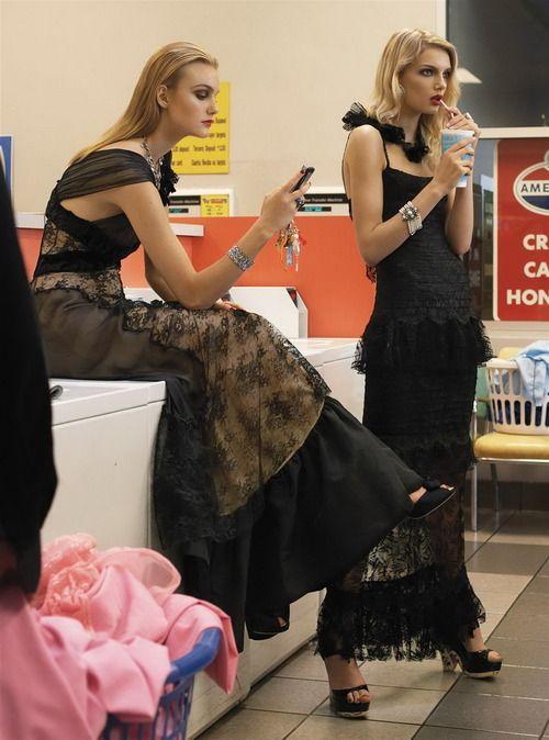 """Morning Beauty"" Lily Donaldson, Gemma Ward & Caroline Trentini bySteven Meisel… No.2"