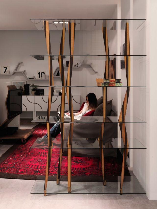 horm italienische-möbel regale sendai crystal-einsatz-wohnzimmer, Mobel ideea