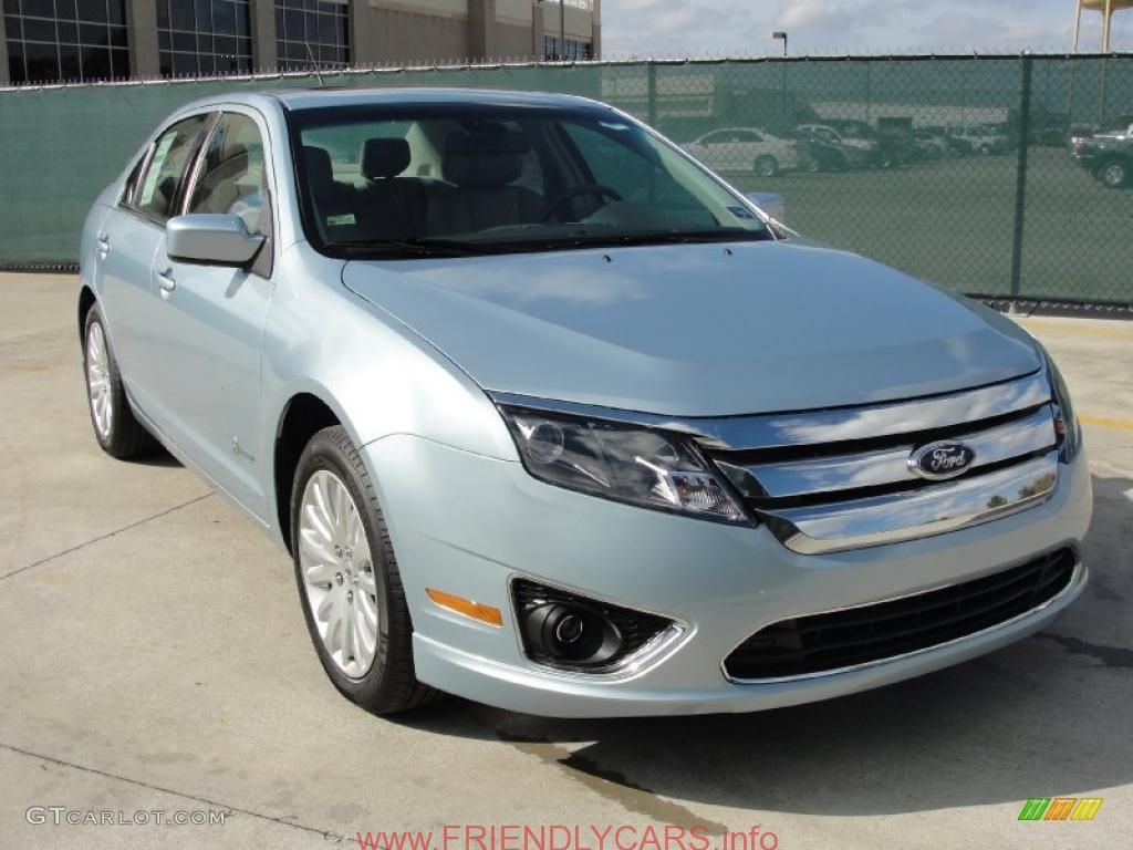 cool ford fusion 2011 blue car images hd 2011 Light Ice Blue Metallic Ford Fusion Hybrid  41237843