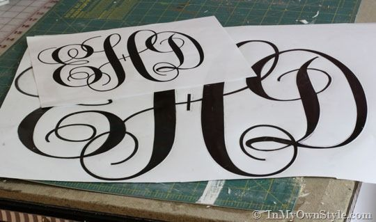 How To Make A Cut Out Monogram To Hang On A Wall Or A Front Door