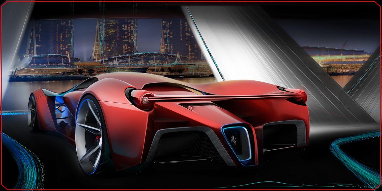 Voici un magnifique concept car baptisé Ferrari F80, par Adriano Raeli. Une très belle voiture qu'on aimerait croiser sur nos routes :) #ferrarif80