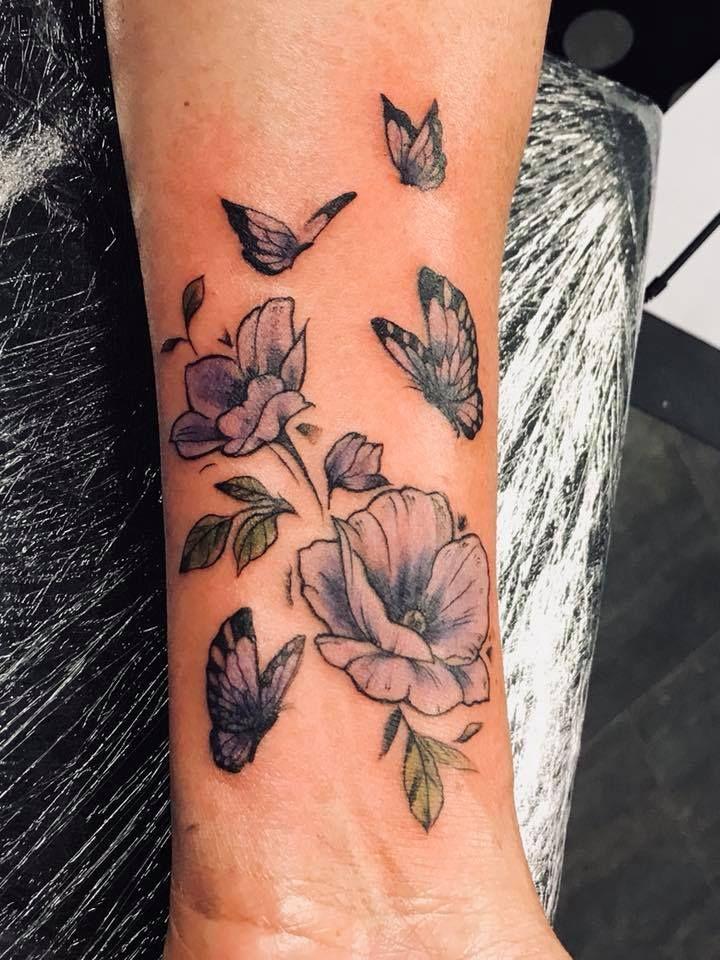 Flowers and butterflies believe tattoos tattoos