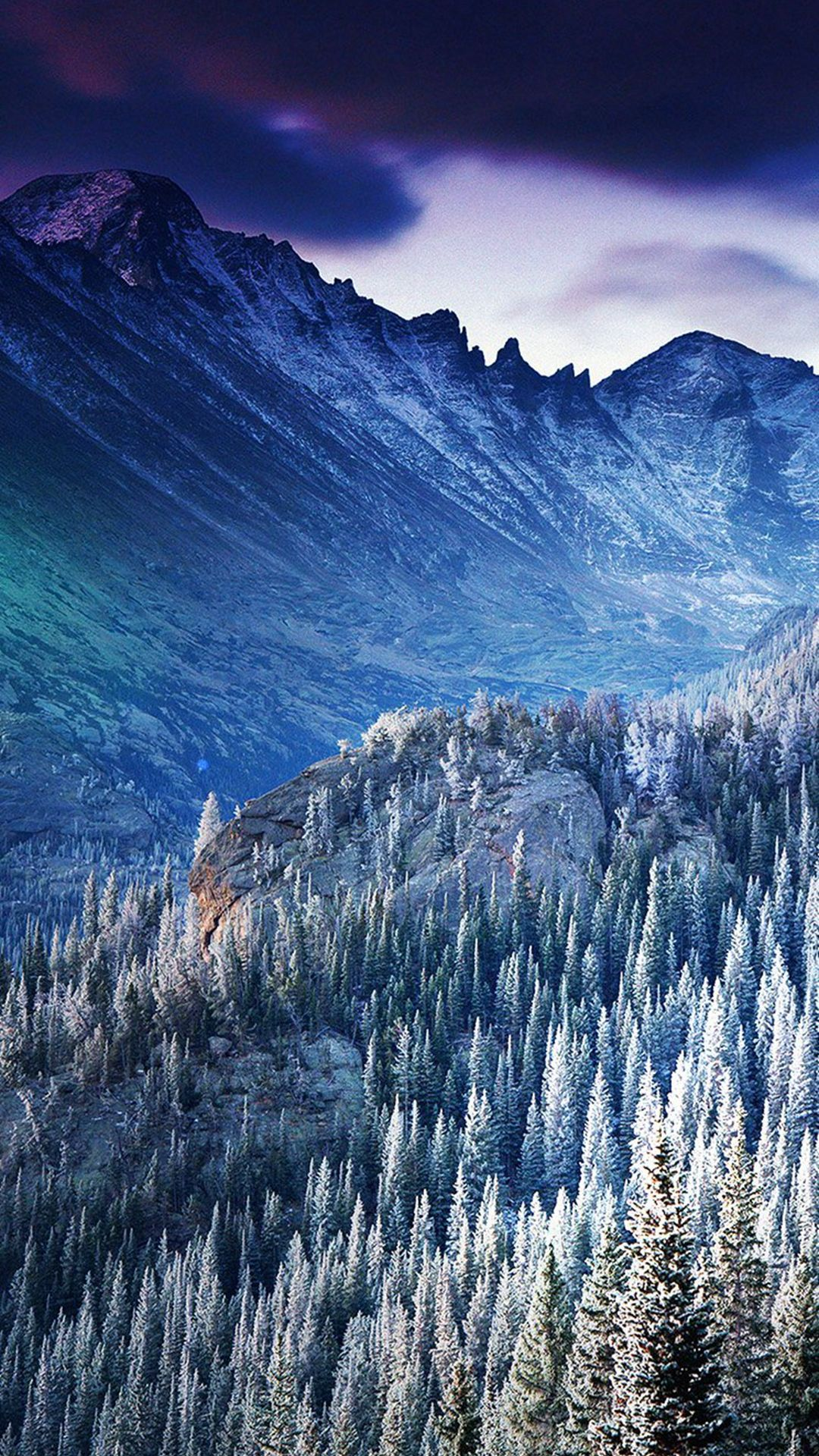 Wallpaper iphone winter - Winter Mountain Blue Woods Tree Nature Cold Iphone 6 Wallpaper