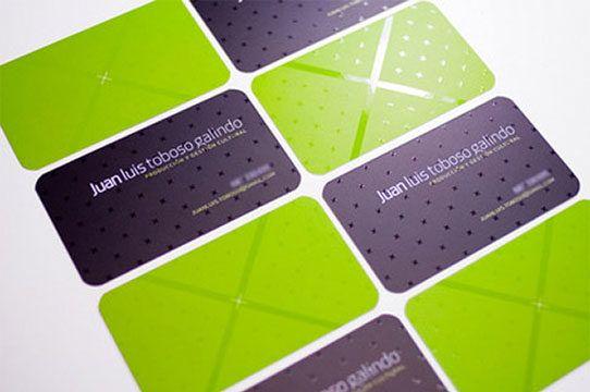 Carte Daffaires Prestige Avec Verso En Vert
