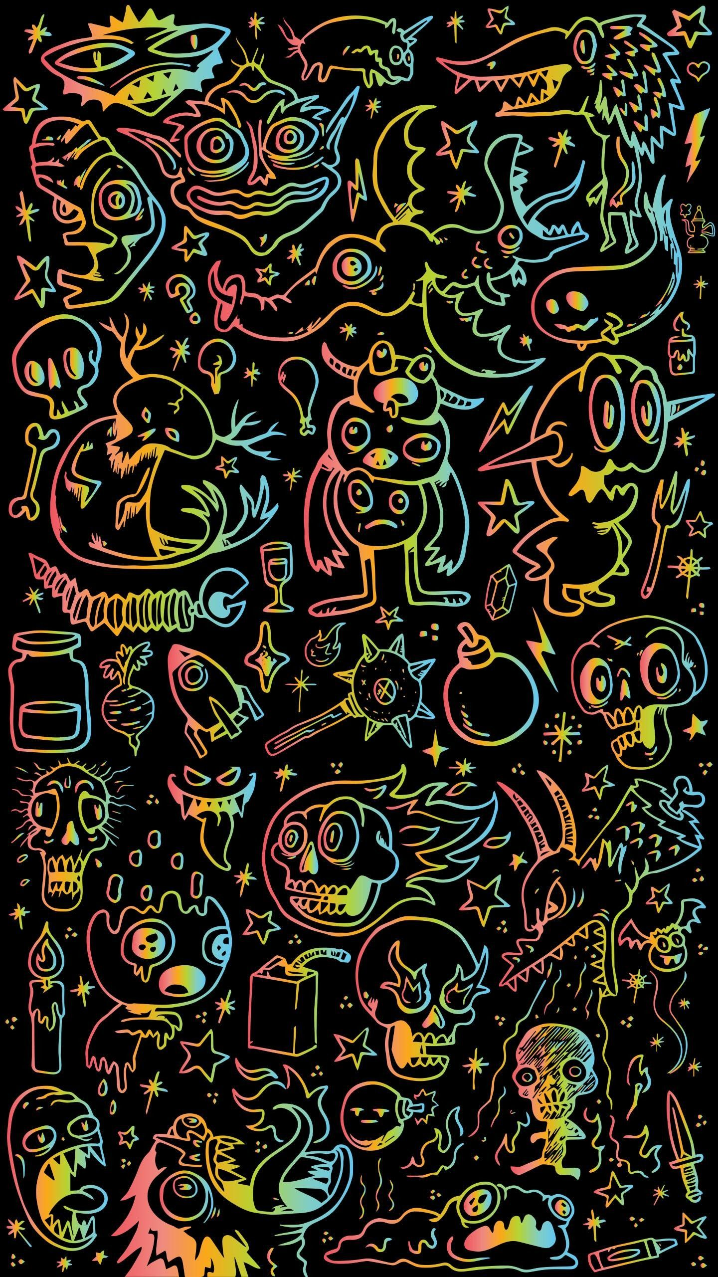 50 Doodle Wallpapers On Wallpaperplay In 2021 Wallpaper Wa Graffiti Wallpaper Witchy Wallpaper