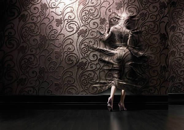 Woman under wallpaper. Photography Inspiration – Distorting Reality with Christophe Gilbert