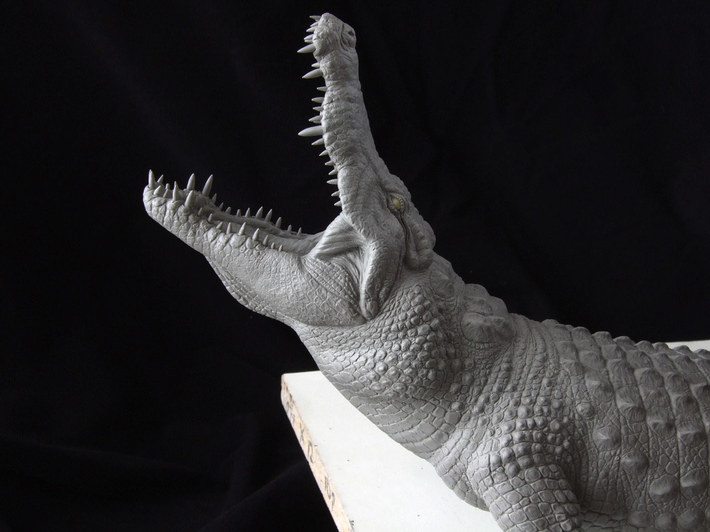 Nile Crocodile sculpt head closeup by revenant99 on