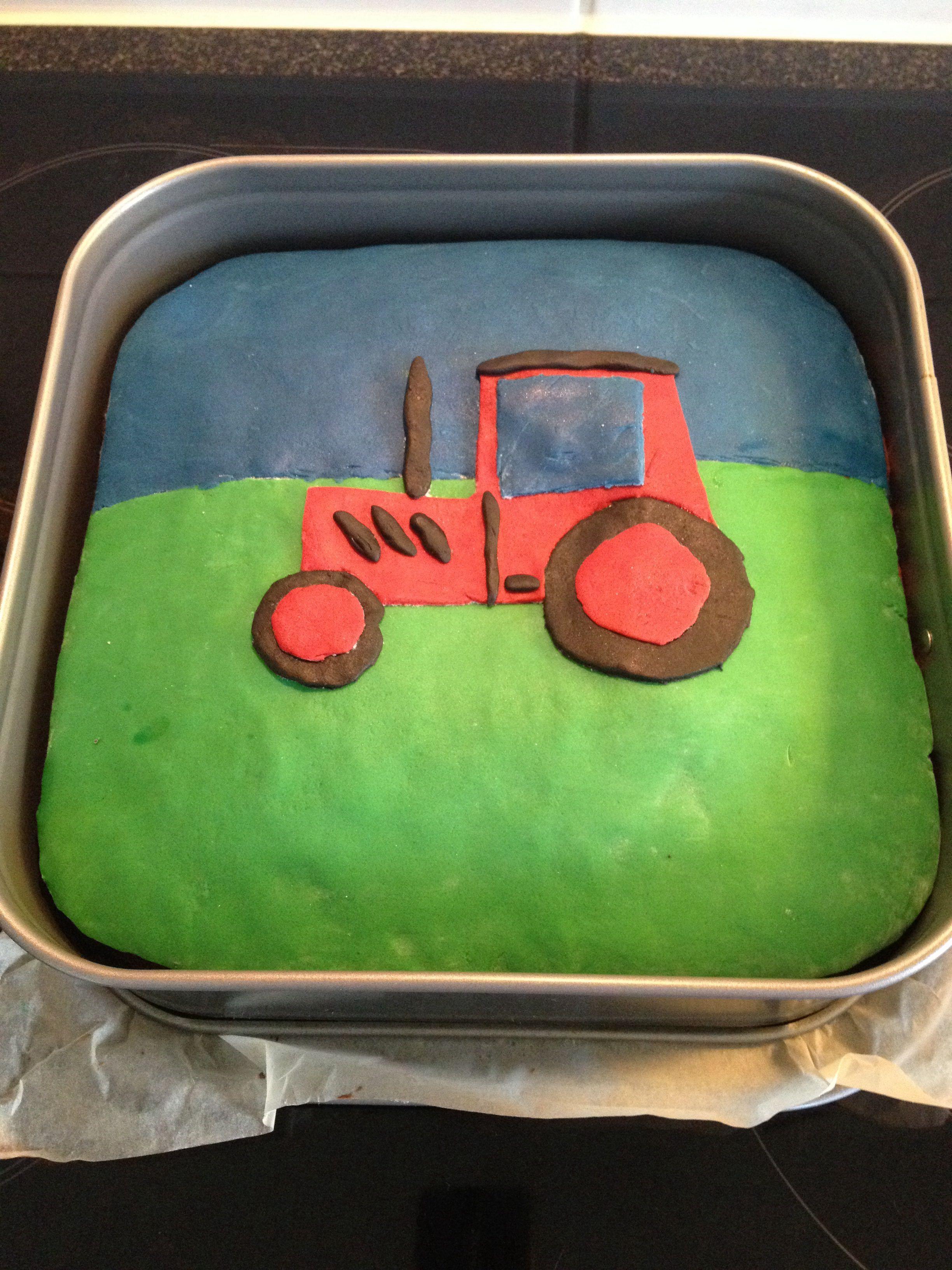 Geburtstags Kuchen Mit Traktor Motiv Kindergeburtstag Birthday Cake Kindergeburtstag Traktor Kuchen Geburtstag Kuchen