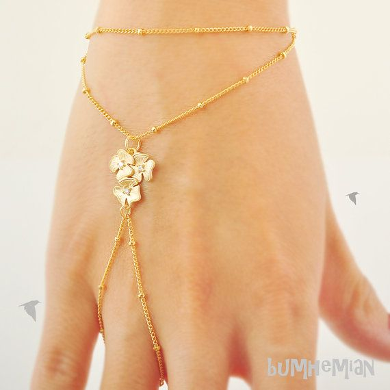 Cherry Blossom Ball Chain Heart Chain by Bumhemian, $19.00 #slavebracelet