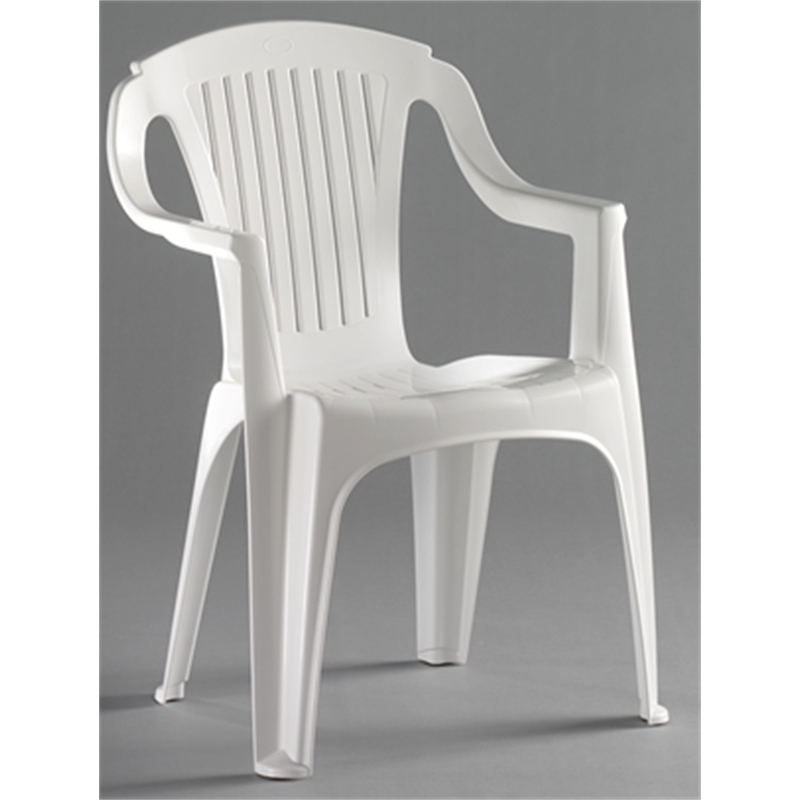 Marquee Rimini Low Back White Resin Chair - Marquee Rimini Low Back White  Resin Chair Camping - Plastic Resin Chairs Our Designs